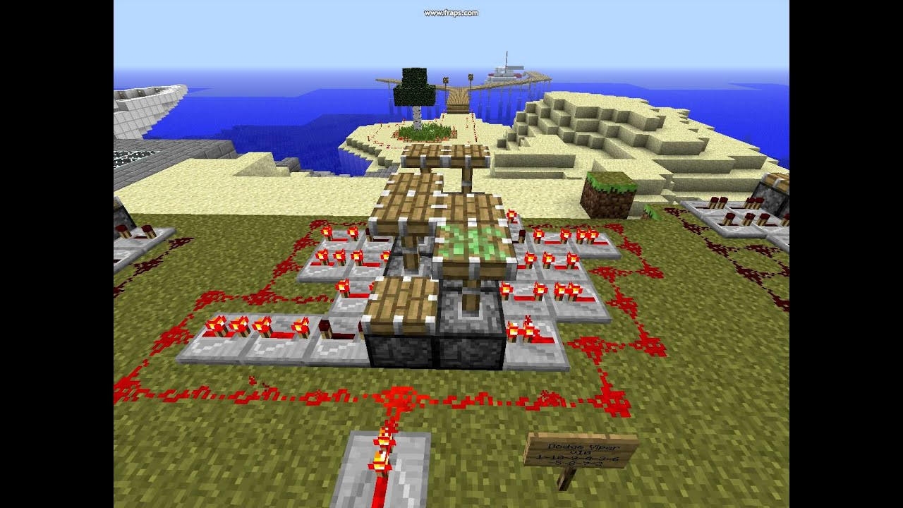how to make a engine in minecraft