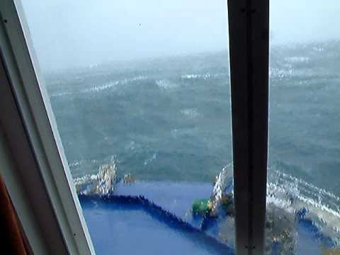 Rough Ferry crossing Cook Strait New Zealand