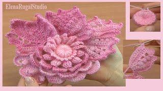 Фриформ, вязание цветочного скрамбла. Мастер класс 7 демо урока по подписке