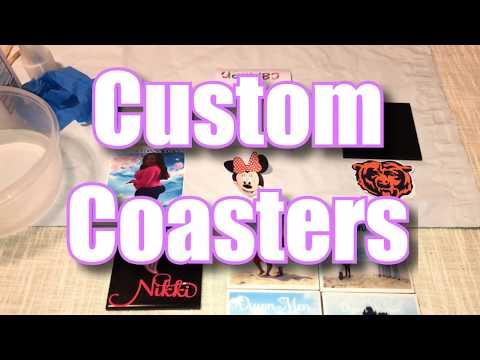 How to make DIY Custom Coasters with Waterslide & Printable Vinyl out of Tile 2019