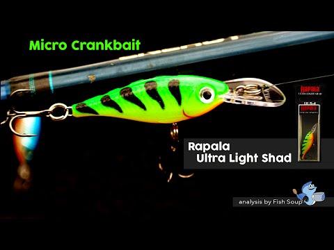 Rapala Ultra Light Bait Review - Micro Crankbait - By Fish Soup