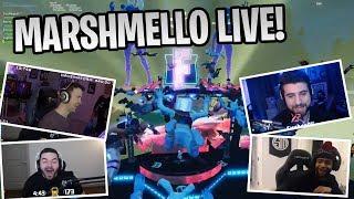 Marshmello Holds Live Fortnite Concert | Streamers React - Fortnite Clips & Highlights