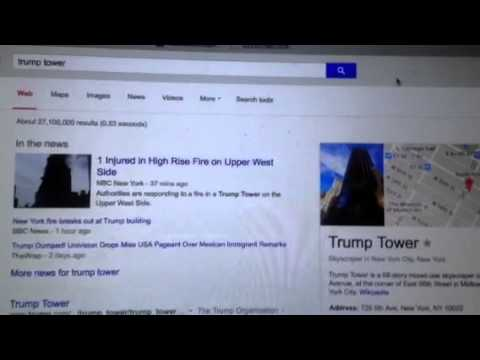 Trump Tower Not On Fire In New York City
