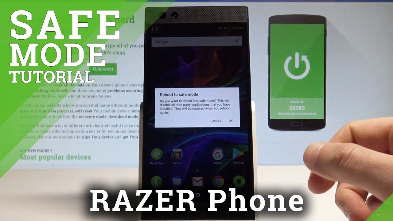 How to Enable Safe Mode in RAZER Phone - Open / Exit Safe Mode  |HardReset Info