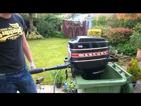 Mercury 9 8 hp outboard engine youtube for Mercury 9 hp outboard motor