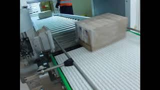 Конвейерная система транспортировка продукта с термоупаковщика на склад готовой продукции