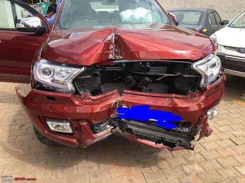 LATEST FORD ENDEAVOUR CAR ACCIDENT 2017