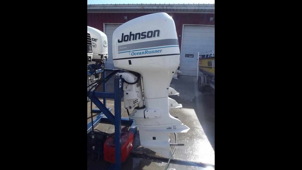 6M2B79 Used 1998 Johnson J150FCXECR 150HP Oceanrunner Ficht Outboard Boat  Motor 25