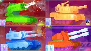 Мультики про танки-монстры все серии подряд. Разно...
