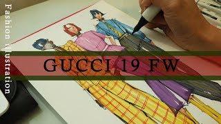 GUCCI 19FW 패션일러스트 (Fashion ill…