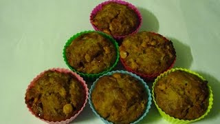 Eggless Whole Wheat Orange Muffins