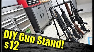This DIY Gun Rack for Under $12 is inexpensive, mobile, sturdy, and lightweight. Whether you are headed to an outdoor gun range