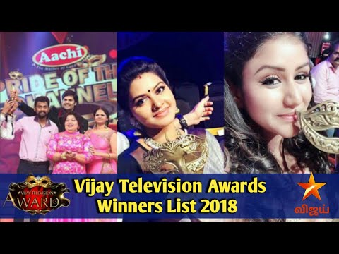 Vijay TV 4th Vijay Television Awards Winners Full List 2018 || 4th Vijay Television Awards 2018