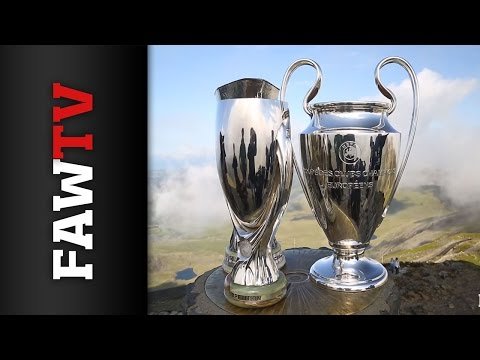 UEFA Super Cup, Champions League and Europa League trophies climb Mount Snowdon