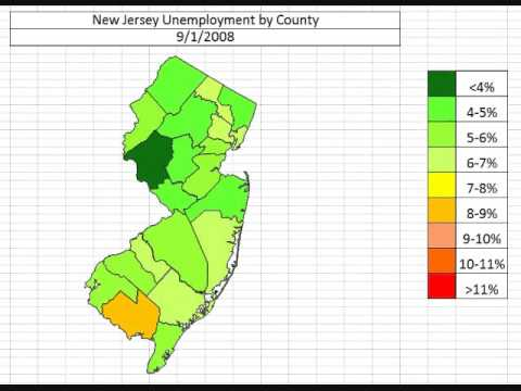 Map: New Jersey Unemployment November 2013