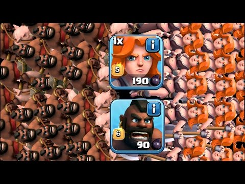 Thumbnail: Clash Of Clans - MAX HOVA TROOP COMP!! (New troop composition gameplay!!)