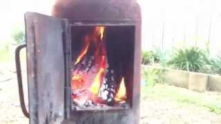 Wood Stove Made From A Recycled Propane / Gas Bottle - Aquaponics