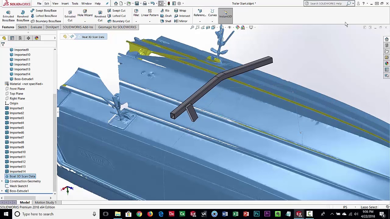 Geomagic for SolidWorks Reference 3D Scan Data Design Workflow