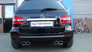 Mercedes Benz B Klasse AMG  Low sound uitlaatsysteem op maat, Maxi Performance