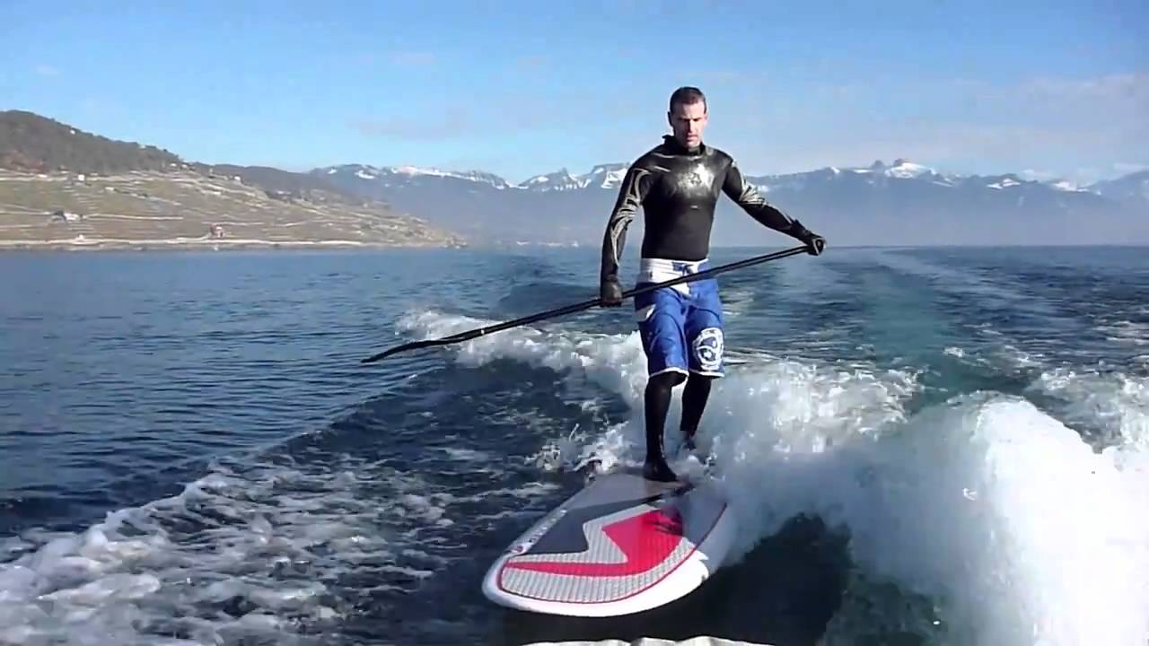 Surf The Wave S Boat With Sup Nidecker 9 11 Youtube
