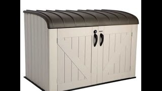 60088 Horizontal Garbage Bin Shed by Lifetime How to Install