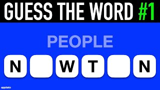 Guess The Word Game #1   General Knowledge Trivia Questions And Answers   Family Game Night