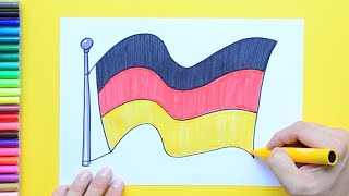 How to draw and color the National Flag of Germany