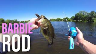 barbie rod bass fishing challenge mtb pro edition