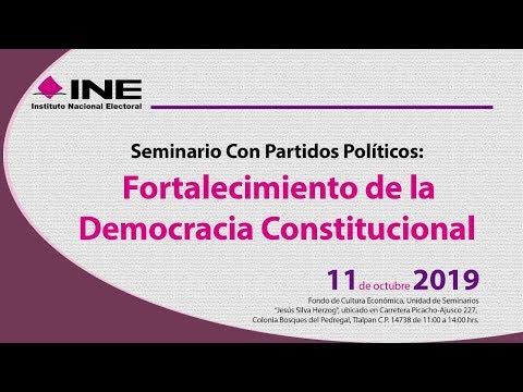Seminario con Partidos Políticos: Fortalecimiento de la Democracia Constitucional