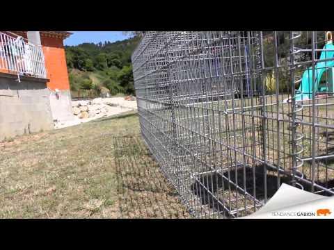 Montage mur en gabion - Tendance Gabion - YouTube