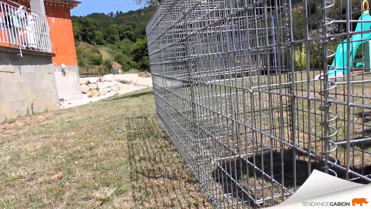 Fabrication Terrasse Montage Mur En Gabion - Tendance Gabion - Youtube