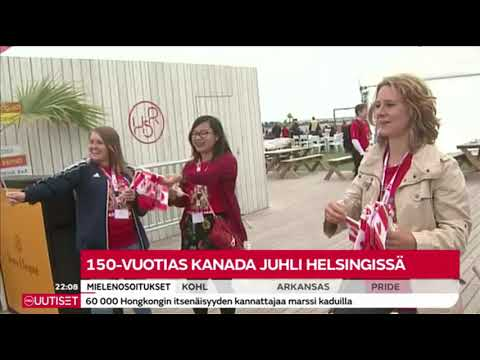 MTV3 News (Finland) July 1, 2017 Canada 150 Celebrations Coverage