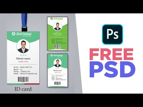 Id card design template free download word