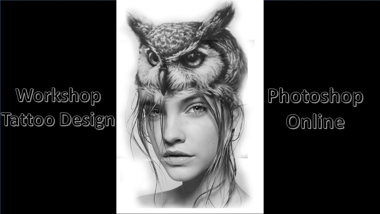 workshop tattoo desing owl woman - YouTube