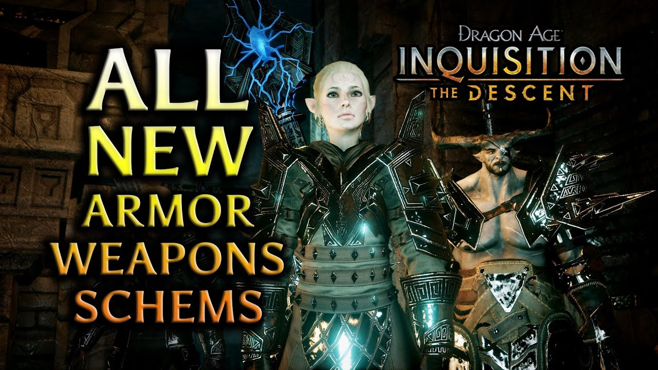 Dragon Age Inquisition The Descent Dlc All New Armor Weapons Schematics Youtube Elven armor set, elver warrior armor, elf cosplay costume, larp breastplate, knight bracers, prop helmet, leg armor we produce top quality armor for larp games. dragon age inquisition the descent dlc all new armor weapons schematics