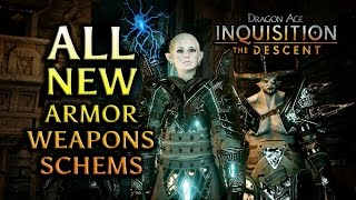 Dragon Age: Inquisition - The Descent DLC - All New Armor, Weapons & Schematics