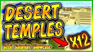⛏️MINECRAFT SEED SHOWCASE - x12 DESERT TEMPLES AND x9 NPC VILLAGES (PS4/XBOX ONE)⛏️
