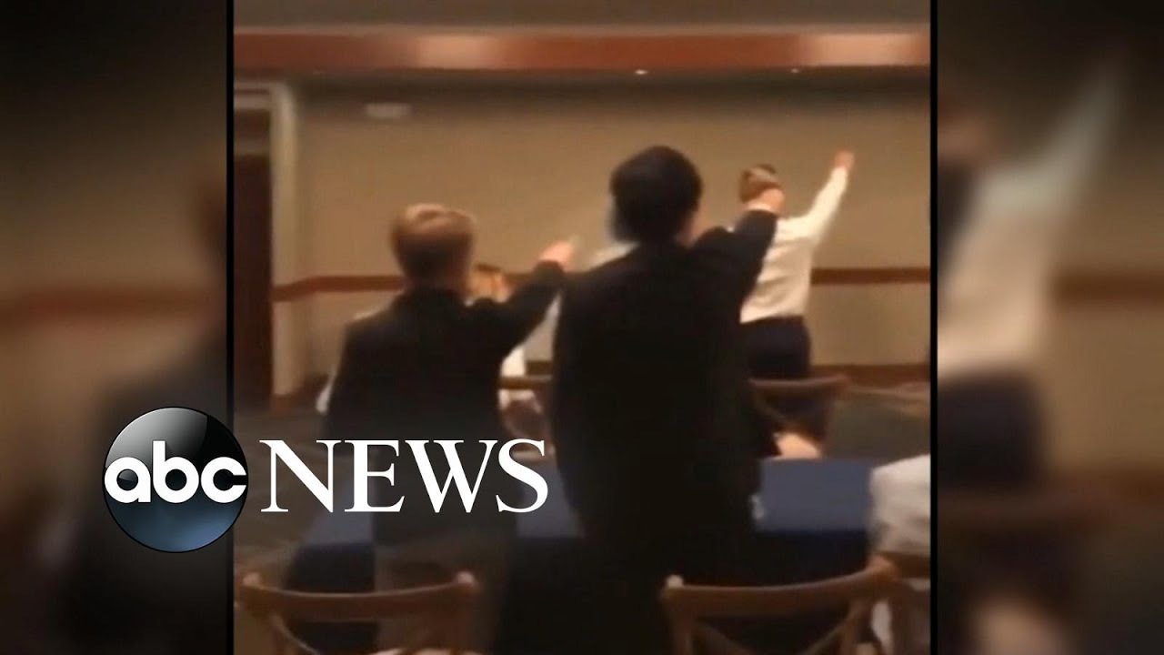 ABC News:New videos show students appearing to throw Nazi salutes