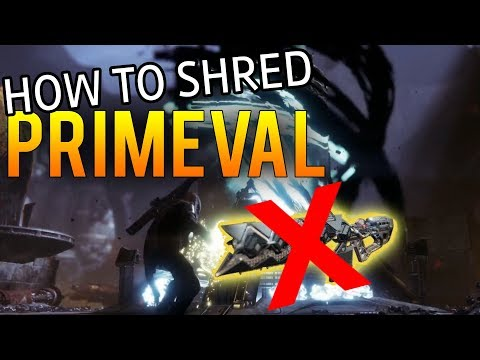 How to Shred the Gambit Primeval FAST without Sleeper! Great DPS Tactic (Destiny 2 Forsaken)