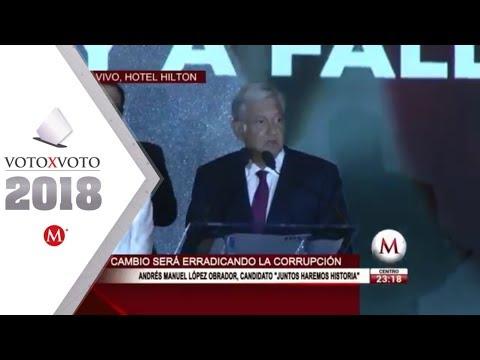 Primer mensaje de AMLO como presidente electo