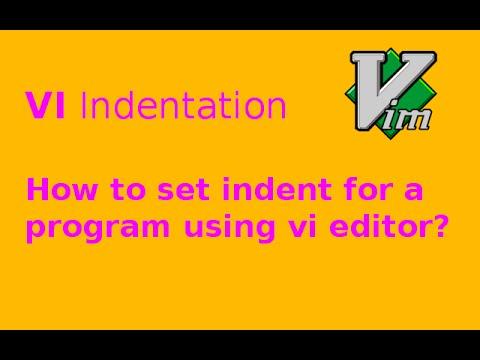 VIM indentation