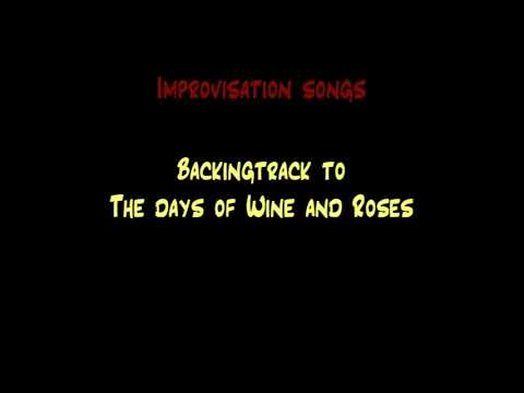Jazz Backing track - The Days of wine and roses