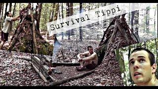 Survival Bushcraft Training Wildnis, Unterkunft bauen, Tipi Lager , Survival Training Schweiz