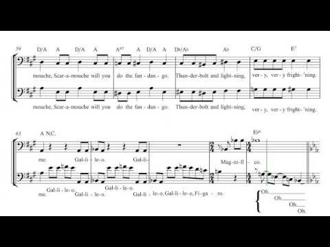 Cello - Bohemian Rhapsody - Queen Sheet Music, Chords, and Vocals