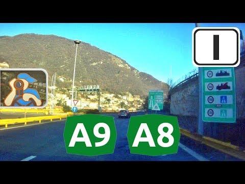 Italia. A9, A8. Svizzera - Malpensa