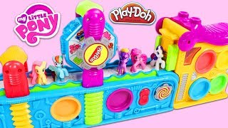 My Little Pony MLP Friends Use Magic Play Doh Mega Fun Factory Playset to Create Surprise Toys!