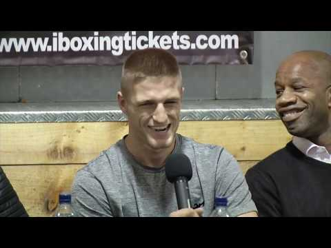 """ZELFA BARRETT HEADLINES AT OFFICIAL PRESS CONFERENCE FOR """"MANCHESTER YOUNG GUNS"""""""
