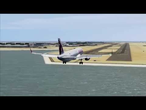 Qatar Airways A320-232 Sharklets Landing at new Doha (FSX)