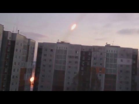 Ukraine War - Russian armed forces showering Donetsk with Grad rockets