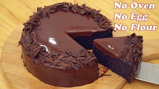 No Oven Chocolate Cake [Only 3 Ingredients]